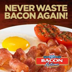 Never Waste again with New Maple Leaf Bacon Portions Bacon, Fresh, Vegetables, Happy, Recipes, Food, Essen, Vegetable Recipes, Eten