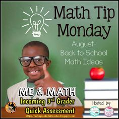 It's a Math Tip Monday Linky!  Come and get some great Back to School Math Tips.  See my blog post about a quick MATH ASSESSMENT for incoming third grades.  Download the FREEBIE from my blog!  Post goes live on August 3, 2015!