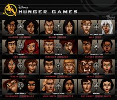 If you're a lover of both Disney and The Hunger Games, check this out! Take a look at this incredible artwork of Disney Characters as Hunger Games tributes. They have all been assigned districts in preparation for the Disney Hunger Games!