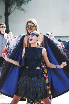 Paris_Fashion_Week_Spring_Summer. Anna_Dello_Russo and Giovanna_Battaglia