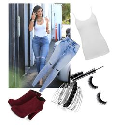 """""""Untitled #204"""" by sparkle-4 on Polyvore featuring 7 For All Mankind, M&Co, Avenue and MAC Cosmetics"""