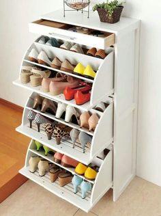 Una idea practica de como guardar y acomodar zapatos