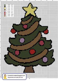 navidad punto de cruz pinterest - Pesquisa Google