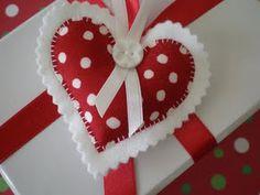 Coeur rouge & blanc