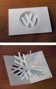 VW holiday card