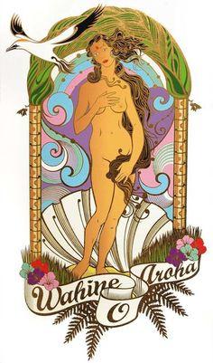 Graphic, old to new beauty, maori women