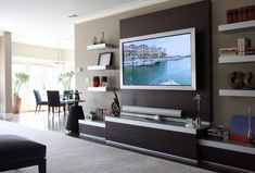 Living Room Wall Ideas With Tv Modern Designs Images 12 Best Media Consoles Unit Mueble Pantalla Plana Area On The
