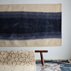 midnight blue ombre rug from westelm
