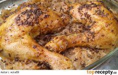 Kuře ala kachna Czech Recipes, Chicken Wings, Sweet Home, Food And Drink, Turkey, Meat, Czech Food, Czech Republic, Poland