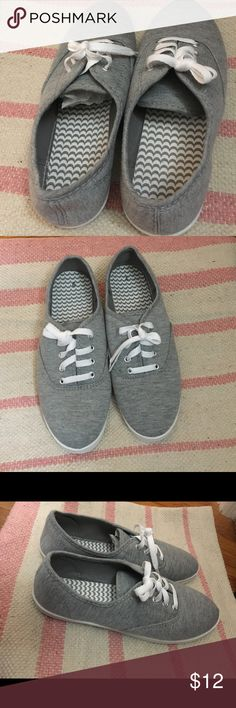 Cute canvas shoes Every outfit needs a cute pair of shoes! Ditch the uncomfortable heels and rock your outfit in comfort  Never worn, no tags, great condition! Shoes Sneakers