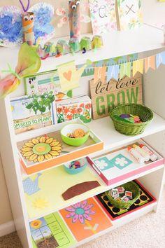 Preschool Garden, Toddler Preschool, Preschool Crafts, Preschool Centers, Classroom Activities, Classroom Decor, May Garden, Garden Theme, Fun Learning