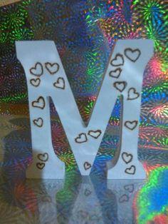 !lettere pirografate