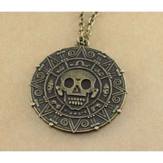 Cursed Pirate Doubloon Necklace,Pirates of the Caribbean Necklace ($3.99) ❤ liked on Polyvore