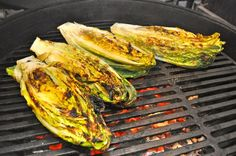 Grilled Romaine.... OMG!  No kidding....you haven't lived till you've tried this!  You can top it with whatever you like - feta, blue cheese, parmesan along with your favorite vinegar.  Serve with steak, fish, chicken or whatever.  Ya gotta try it!  Do it NOW!