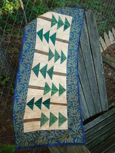 Pine Tree Table Runner by Jackiesewingstudio on Etsy