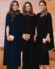 The Gulzar Ladies stun in IVY Luxury Pret. Get these outfits today at our Lahore Outlet at Hussain Chowk MM Alam Rd. Shadi Dresses, Pakistani Formal Dresses, Pakistani Wedding Outfits, Pakistani Dress Design, Indian Dresses, Designer Party Dresses, Party Wear Dresses, Dress Outfits, Fashion Dresses
