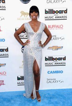 Kelly Rowland in silver Rami Al Ali at the Billboard Music Awards