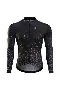 Monton 2016 Men s Black Lightweight Long Sleeve Cycling Jersey Sale c76cb6a55