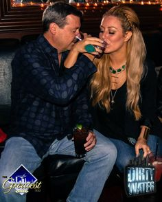The Greatest Bar's Bill Fairweather with Miss Aubrey O'Day, only at The Greatest Bar on Dirty Water Fridays
