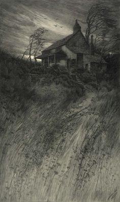 CF William Mielatz, Old House in Wind, 1906