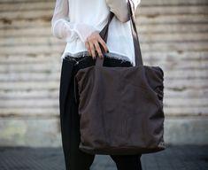 Sale Dark Brown Leather Zipper Tote Soft Leather Bag Women
