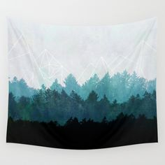 Woods Abstract  Wall Tapestry