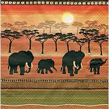 Papierservietten 'Afrika/Elefanten'