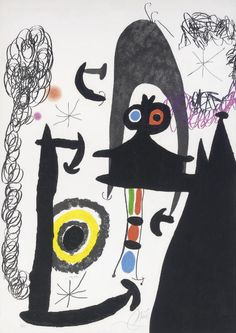 """Joan Miró Grabado al Aguafuerte, Aguatinta y Carborundum """"Escalade Vers La Lune"""" Año: 1969 Precio: Consultar Web Dimensiones: 104 x 75 cm Tirada de 75 ejemplares Firmado y Numerado a mano Certificado por la Fundació Joan Miró Dupin 496  Web: www.grabadosylitografias.com Más información y consultas: galeria@grabadosylitografias.com"""