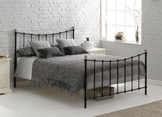 Finished in a contemporary, sleek black, our Jasmine metal bed frame is a beautifully-crafted bed, making a welcome addition to any bedroom