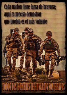 Todos los hombres legionarios son bravos Military Life, Marines, Army, Comic Books, Romance, Baseball Cards, Comics, Movie Posters, Cartoons