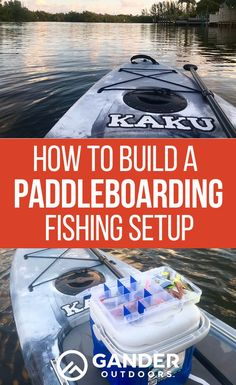 Learn how to build a paddle board fishing setup, including different configurations and all the accessories you'll need for a SUP fishing trip. Sup Fishing, Trout Fishing, Fishing Boats, Fishing Chair, Fishing Shirts, Fishing Apparel, Fishing Guide, Surf Fishing Tips, Marlin Fishing
