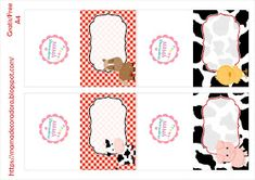 Mamá Decoradora: Kit Imprimible La Granja Gratis Cowgirl Birthday, Farm Birthday, Birthday Party Themes, Printable Banner, Free Food, Clip Art, Baby Shower, Comics, Farm Theme