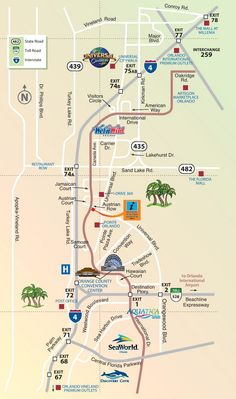 Orlando International Drive tourist map Bahamas Cruise Pinterest