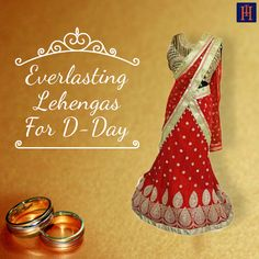 Make your Big D-Day even more memorable as you walk down the aise in this old-style eternal and classic Red #Lehenga. We are lusting over this piece and HOW!