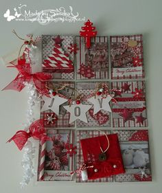 Very lovely. Christmas Paper Crafts, Noel Christmas, Christmas Themes, Xmas, Pocket Pal, Pocket Cards, Project Life, Pocket Page Scrapbooking, Fun Mail