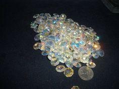 Aurora Borealis Octagon Glass 14MM lot of 150