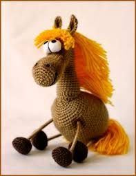 crochet horse marionette