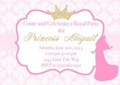 Disney Inspired Princess Birthday Aurora Invitation by PlannedPretty, $15.00