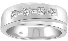 embedded chunky diamond bands - Google Search Aquamarine Rings, Diamond Bands, Google Search, Diamond Band Rings