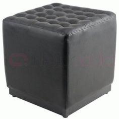 Cube Stool (Leather)   InteriorAddict.com
