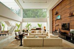 Living Roon, Living Room Sofa, Sala Grande, High Windows, Beautiful Interiors, Sofa Set, Sweet Home, Loft, House Design
