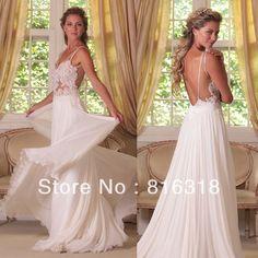 Vestido De Noiva 2014 Lace Simple White Beach Wedding Dresses A Line Backless Beach Wedding Dress 2014 Vestido De Casamento