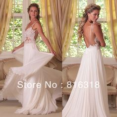 Vestido De Noiva 2014 Lace Simple White Beach Wedding Dresses A Line Backless Beach Wedding Dress 2014 Vestido De Casamento