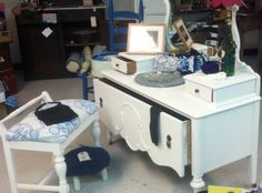 One large drawer chest with mirror. Amy Howard Paint.