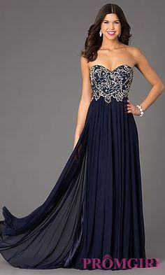 555e65f059 Floor Length Sweetheart Dress by Dave and Johnny at PromGirl.com Strapless Dress  Formal
