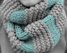 GAP Inspired Boyfriend Infinity Scarf Knitting pattern by MaryAnnDesigns Infinity Scarf Knitting Pattern, Poncho Au Crochet, Crochet Scarf Easy, Knit Or Crochet, Crochet Scarves, Knitting Scarves, Easy Knitting, Quick Crochet, Infinity Scarf Patterns