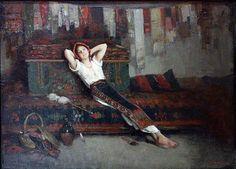 Fata Cu Zestrea Ei by Nicolae Grigorescu Art Nouveau, Francis Picabia, Human Pictures, Portraits, Vintage Artwork, Female Art, Art History, Painting & Drawing, Scene