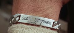 "ID bracelet worn by Brian Bedford in ""Grand Prix"""