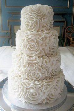 Festliche Hochzeitstorte Weisse Schokolade Blumen Hochzeitstorte