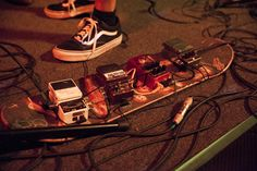 Skate Board Guitar Pedal Board
